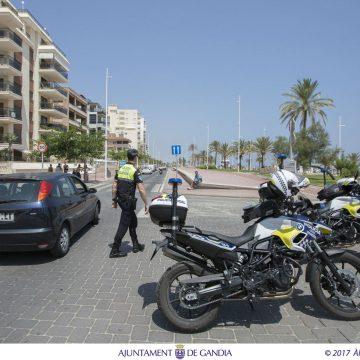 Prohibit aparcar en el Passeig Marítim de Gandia fins al 31 de setembre