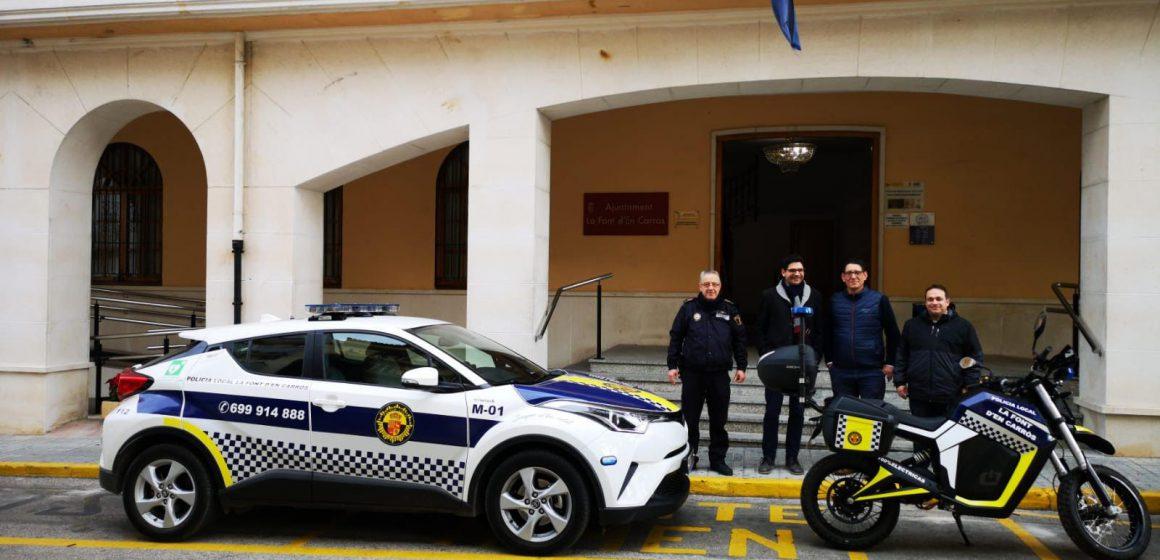 La Policía Local de La Font d'en Carròs estrena vehicle elèctric