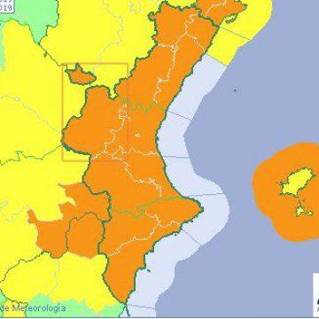 Alerta per vents de 90 quilòmetres a la Safor, Vall d'Albaida, Costera, Ribera i Alcoi