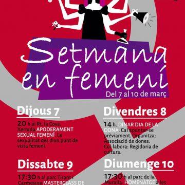 Comença la Setmana en femení a La Font d'en Carròs