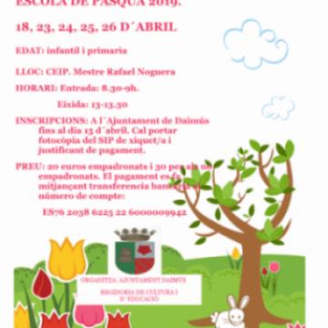 Daimús organitza una Escoleta de Pasqua