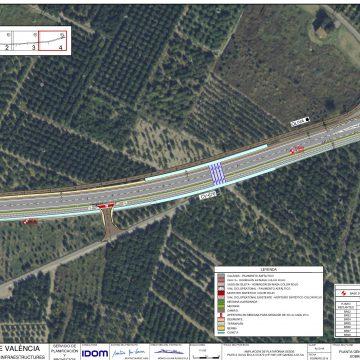 La carretera de Piles a Oliva tindrà 15 metres d'amplària, carril bici i vies de servei
