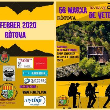 La 56 Marxa de Veterans de Muntanya de la Comunitat Valenciana  tindrà lloc a Ròtova el 2 de febrer