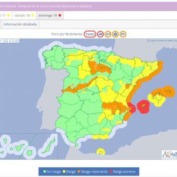 La borrasca Gloria pot deixar neu i plutja a la Comunitat Valenciana