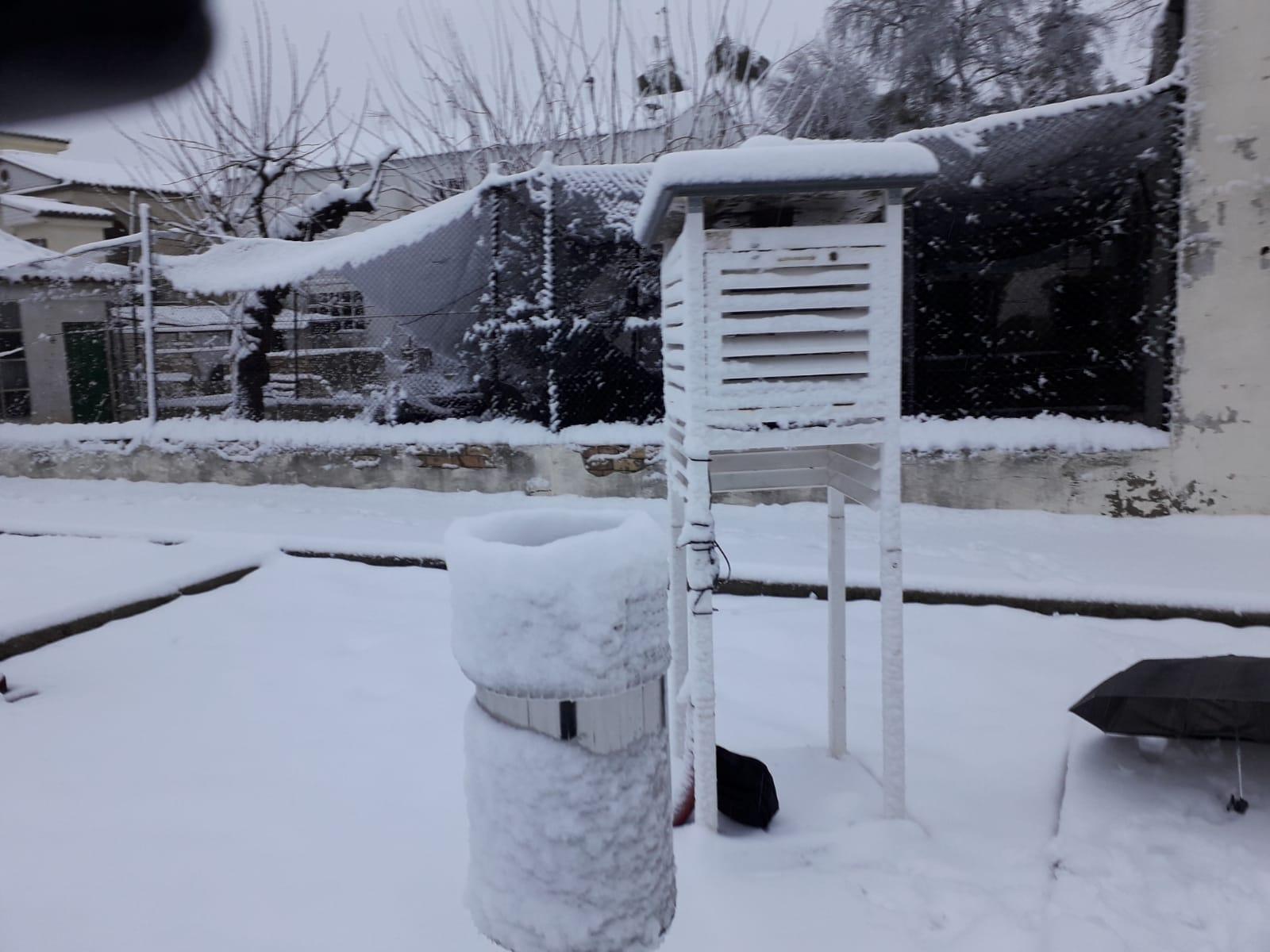 Ontinyent registra la major nevada en 15 anys