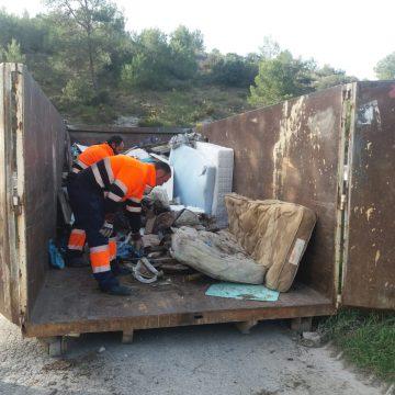 Es retira l'abocador il·legal de l'aqüifer del Molinar d'Alcoi