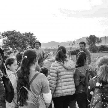 Tret d'eixida a FirAll 2020 amb les visites d'escolars als camps d'alls tendres