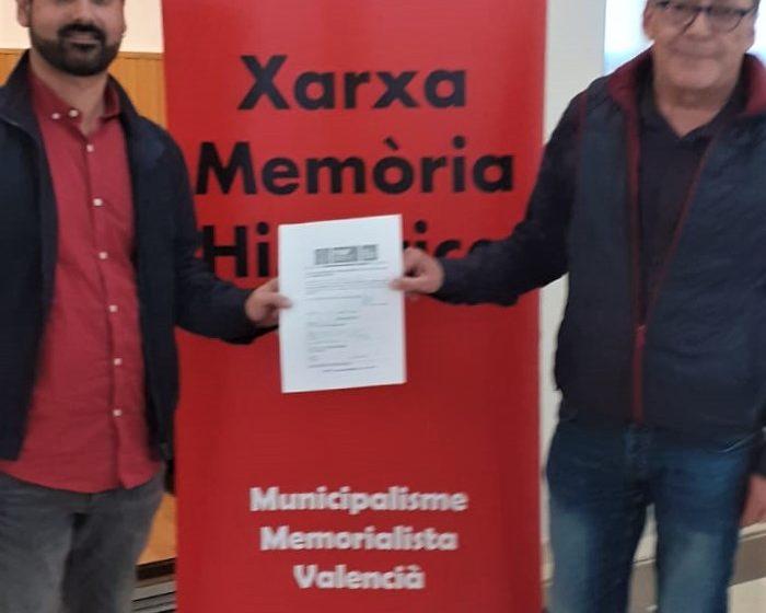 Oliva entra en la Xarxa de Memòria Històrica de la Federació Valenciana de Municipis i Províncies