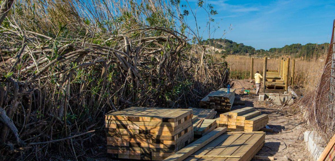 L'Ajuntament de Cullera millora l'accessibilitat a la bassa de Sant Llorenç