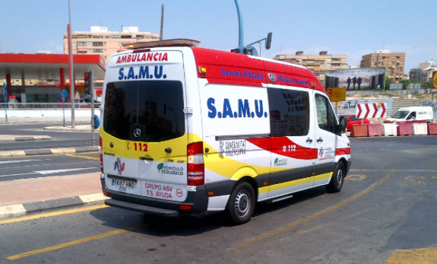 Un dona de quaranta anys, ferida a Cocentaina en un accident de trànsit