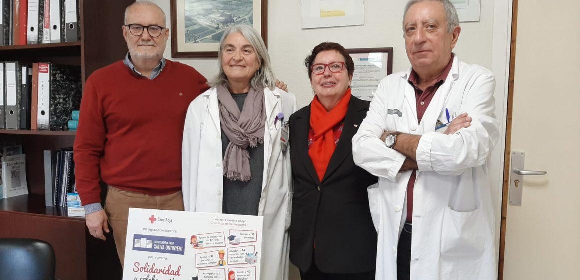 Creu Roja reconeix la col·laboració del departament de Salut de Xàtiva