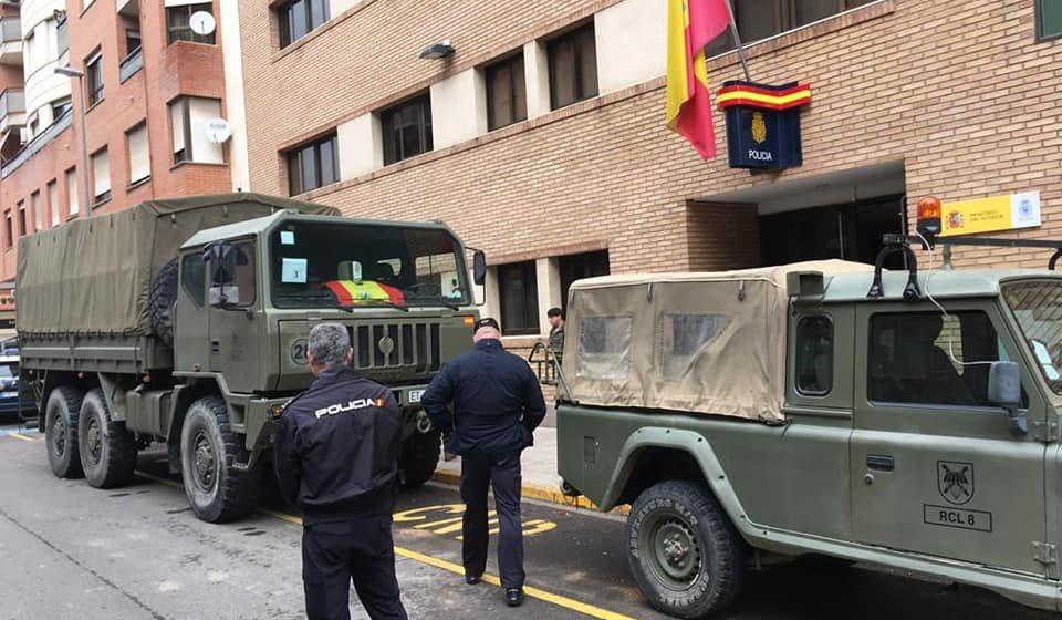 Paracaidistes de l'Exèrcit reforcen la lluita en Alzira contra el coronavirus