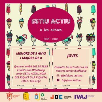 Xàtiva presenta el programa Estiu Actiu per facilitar l'oci i el temps lliure dels més menuts durant juliol i agost