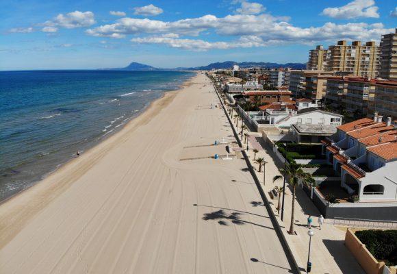 La platja de Miramar, entre les quatre platges més segures d'Espanya