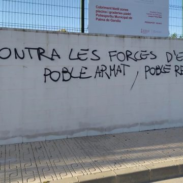 L'Equip de Govern de Palma de Gandia denúncia i condemna pintades vandàliques al municipi