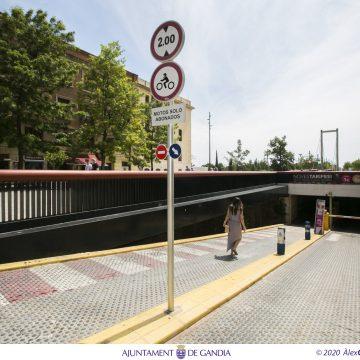 Gandia reactiva el Centre Històric amb 2 hores d'aparcament gratuïtes en el pàrquing del Serpis