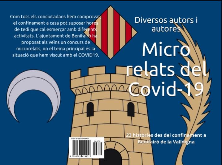 L'Ajuntament de Benifairó publica un llibre de microrrelats escrits durant el confinament