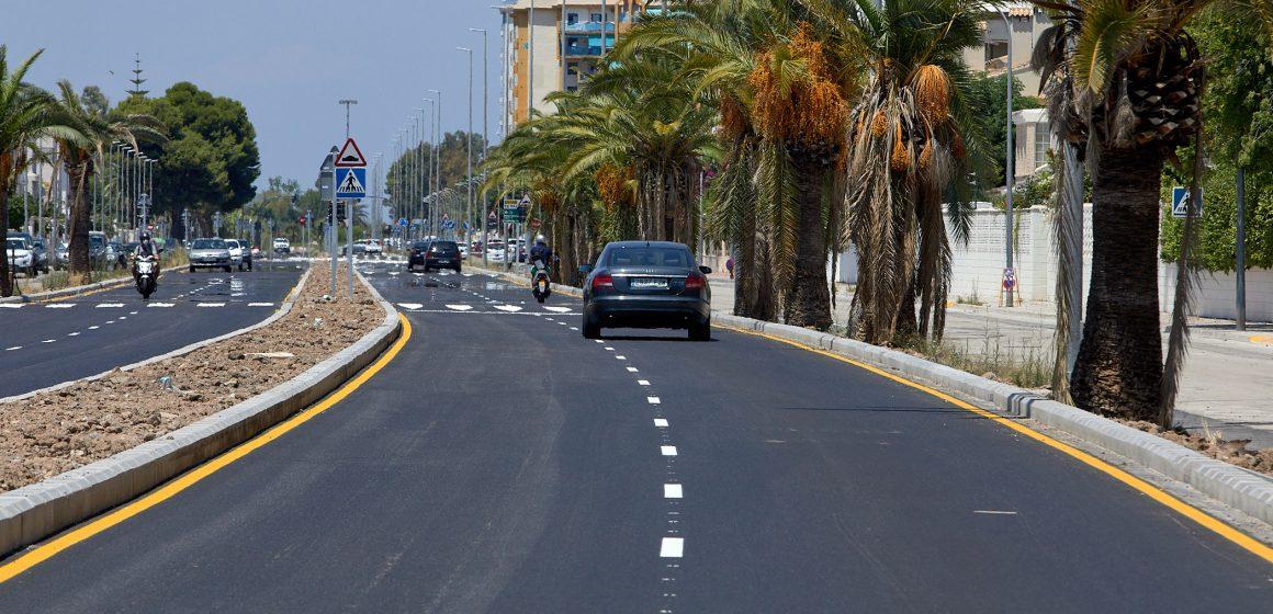 La Diputació de València finalitza el primer tram de bulevard de la platja de Gandia