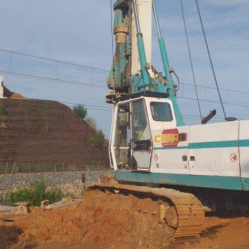 Les obres del pont del pas a nivell de Xeresa entren en la recta final