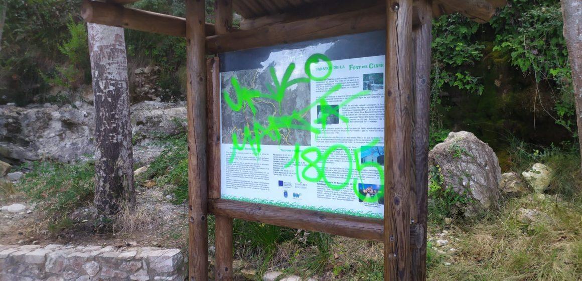 L'Ajuntament de Simat de la Valldigna denuncia actes vandàlics en la Font del Cirer