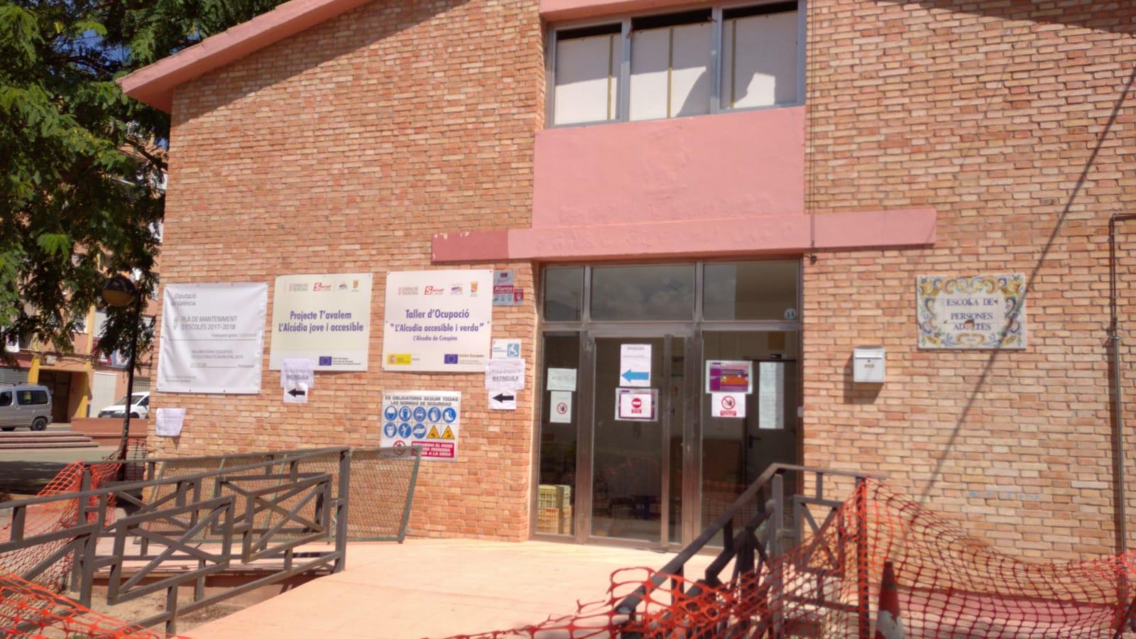 L'Alcúdia de Crespins inicia les obres de millora i condicionament de l'Escola d'Adults