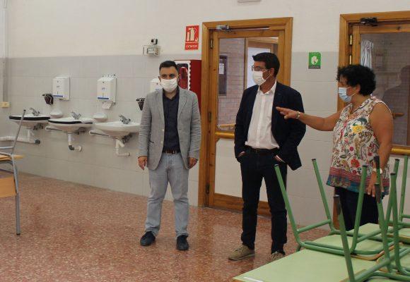 L'alcalde d'Ontinyent visita en l'inici de curs les obres realitzades al CEE Vall Blanca