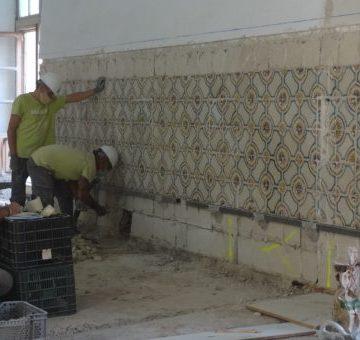 Avancen les obres per a la construcció del nou consultori de salut de la plaça de la Seu de Xàtiva