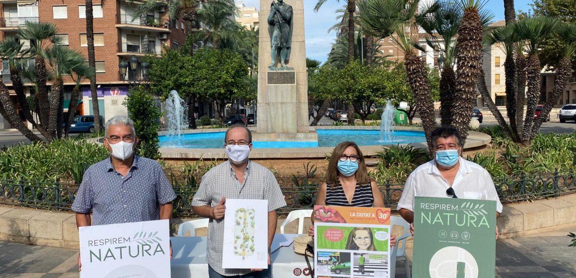 Alzira celebra la setmana de la mobilitat amb un jardí efímer a la plaça del Regne del 25 al 27 de setembre