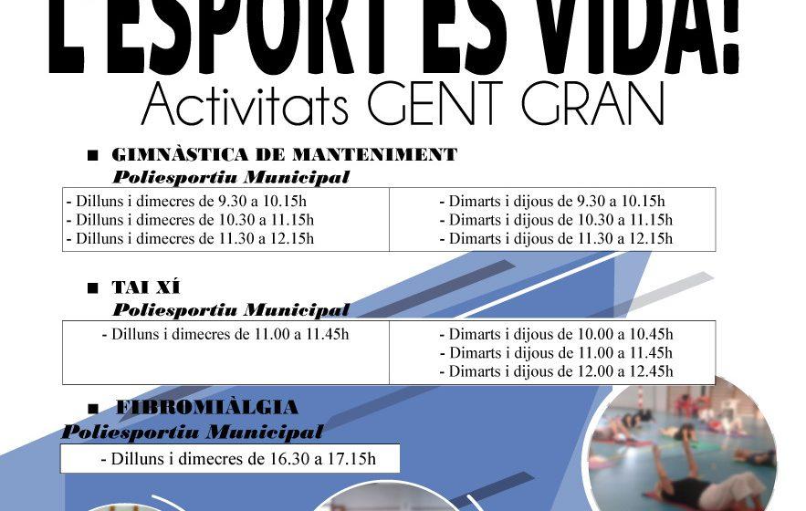 Oliva reprén les activitats esportives per a la gent gran