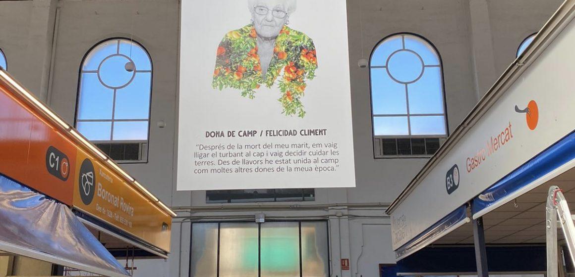 El Mercat Municipal acull una exposició sobre la dona de Carcaixent  en l'entorn rural