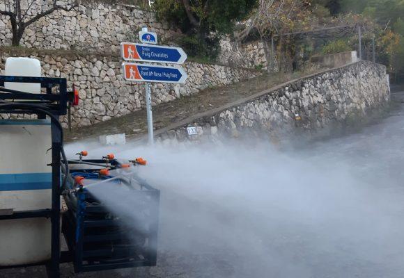 Oliva intensifica la desinfecció i la netetja de carrers