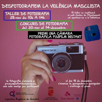 La Font d'En Carròs organitza un taller i un concurs de fotografia per combatre la violència de gènere