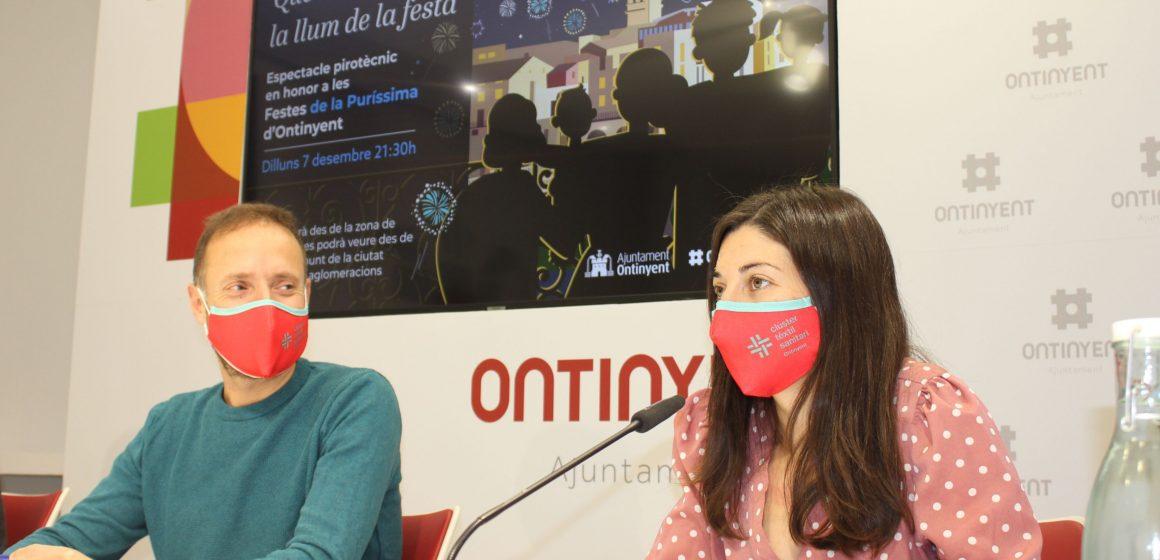 Ontinyent organitza un espectacle pirotècnic en homenatge a les festes de la Puríssima