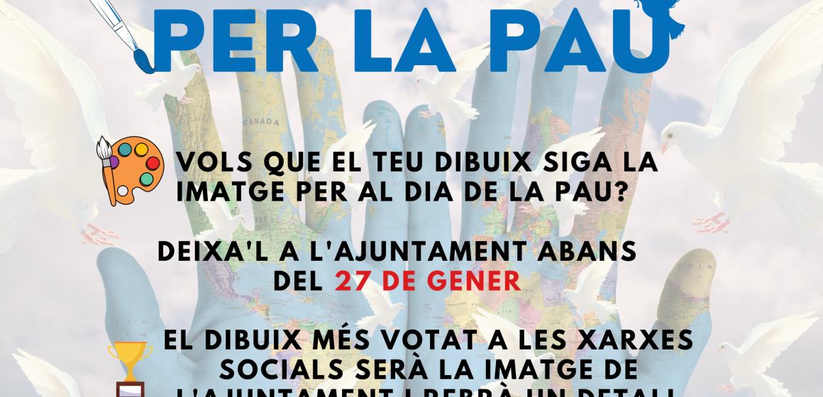 L'Ajuntament de Simat convoca un dibuix amb motiu del Dia Escolar de la No Violència i la Pau
