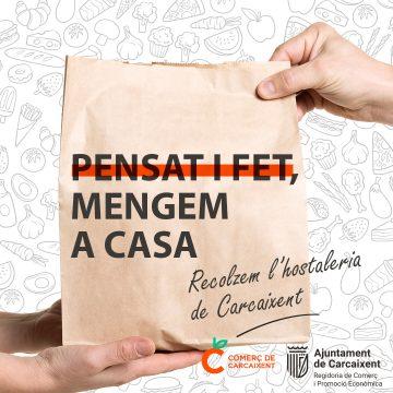 L'Ajuntament de Carcaixent inicia una campanya de suport a l'hostaleria local que fomentarà les comandes a domicili