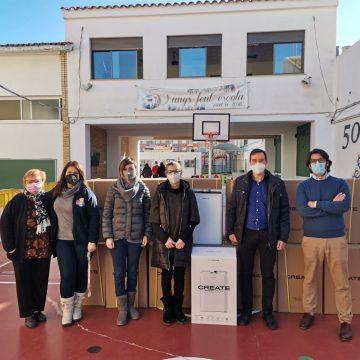 Piles instal·la purificadors d'aire en el CEIP José Pedrós i l'Escoleta Colorets