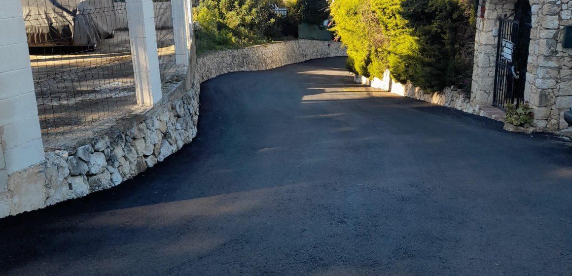 La Font d'En Carrós finalitza l'asfaltat del camí de la Urbanització Panorama