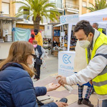 Cullera reprén el mercat ambulant i reforça les mesures preventives