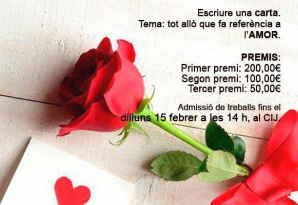 """Benifaió fomenta entre les i els joves l'escriptura romàntica amb el Concurs """"Paraules d'Amor»"""