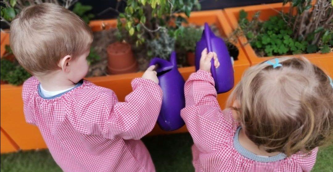 Gandia reparteix més de 1.000 plantes aromàtiques als xiquets i xiquetes d'Infantil i Primària de la ciutat