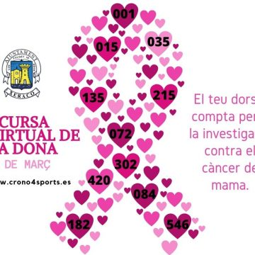 Xeraco organitza la I Cursa virtual de la Dona per col·laborar amb la lluita contra el càncer de mama