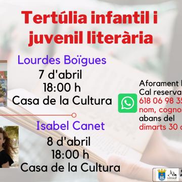 Simat organitza una tertúlia literària infantil i juvenil amb Lourdes Boïgues i Isabel Canet