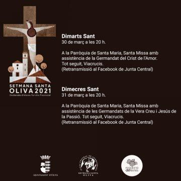 Les Germandats de la Vera Creu i Jesús de la Passió, protagonistes del Dimecres Sant a Oliva