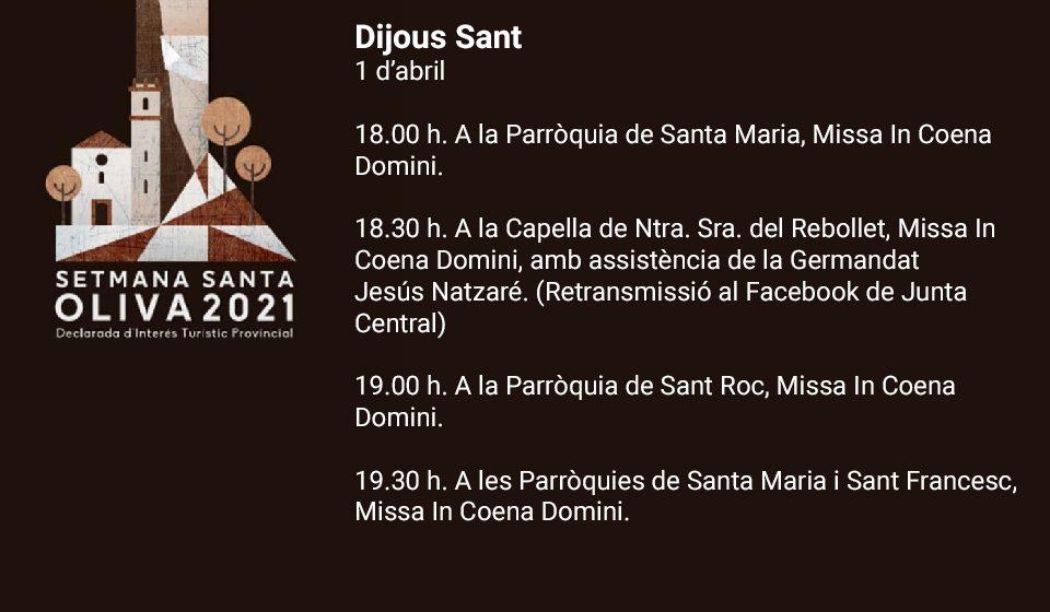 El Dijous Sant més esperat arriba a la Setmana Santa d'Oliva