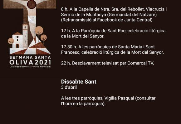 Amb el Divendres Sant arriba el moment més especial de la Setmana Santa d'Oliva