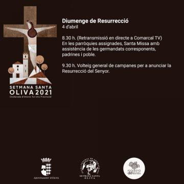 El Diumenge de Resurrecció tanca la Setmana Santa d'Oliva