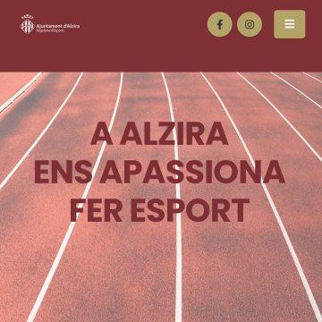 La Regidoria d'Esports d'Alzira crea un web per a un accés ràpid i senzill a tot allò referent al món de l'esport local