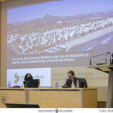 Representants veïnals participen en el tercer debat del Pla de Regeneració Urbana dels Nuclis Primitius de la Platja  de Gandia