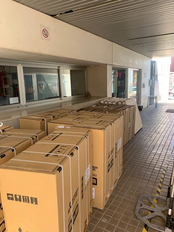 El Real de Gandia instal·la aire condicionat en el col·legi públic Beat Carmelo