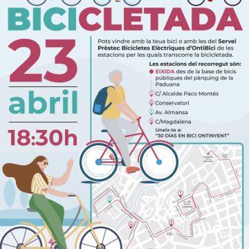 Ontinyent dóna la benvinguda a «Ontibici» amb una bicicletada
